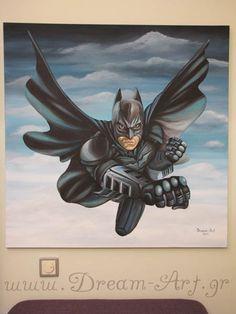 Batman ζωγραφική σε καμβά