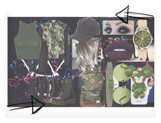 """EXO - Monster inspired"" by adnqmu on Polyvore featuring New Look, WithChic, Topshop, Dr. Martens, Herschel Supply Co., Victoria, Victoria Beckham, Tie-Ups, Iphoria, rag & bone en Henry London"