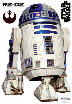 Star Wars - R2D2 (scale 1) Veggoverføringsbilde hos AllPosters.no
