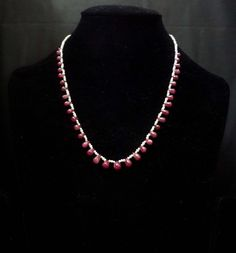 Gold With Silver Rings Silver Drop Earrings, Sterling Silver Earrings, Silver Jewelry, Pearl Necklace, Jewelry Necklaces, Beaded Necklace, Silver Rings, 925 Silver, Ruby Gemstone