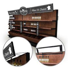 Store Shelving Retail Header Sign Holder - GONDOLA TOPPER SIGN HOLDER - Retail Shelf Header Frame System