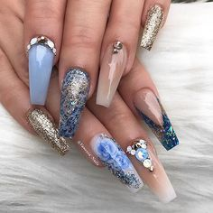 """6,498 Likes, 86 Comments - Vanessa Gisselle (@vanessa_nailz) on Instagram: """"Goodnight loves a picture of my nails per request Buenas Noches ✨"""""""