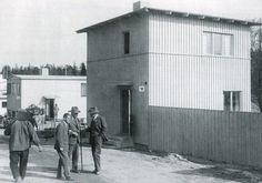 Stockholmsutställningen 1930, Villa 51, arkitekt Uno Åhrén och Villa 52 (närmast) arkitekt Birger Jonsson