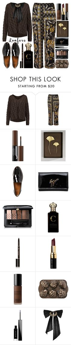 """""""Fall Footwear Trend:Loafers"""" by grozdana-v ❤ liked on Polyvore featuring Proenza Schouler, River Island, Sephora Collection, Michael Aram, Franco Sarto, Giuseppe Zanotti, Guerlain, Clive Christian, Anastasia Beverly Hills and Bobbi Brown Cosmetics"""