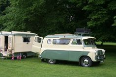 This 1958 Bedford CA Dormobile camper van and matching folding caravan was at Newby Hall rally