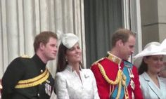 Princes Harry and William with Kate