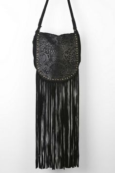 Ecote Winding Road Suede Fringe Crossbody Bag #urbanoutfitters