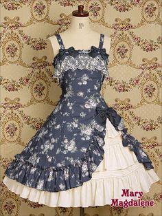 This, but in space fabric! Kawaii Fashion, Lolita Fashion, Cute Fashion, Vintage Dresses, Vintage Outfits, Vintage Fashion, Vestidos Retro, Mode Lolita, Estilo Lolita