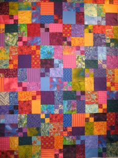 """""""Just"""" a quilt with 4 patches"""