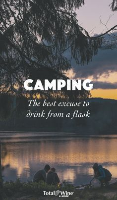 As if anyone needed an excuse! | Explore the Total Wine website for a wide variety of flasks to take on a camping trip or to give as gifts.