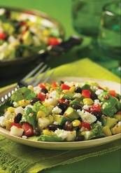 Grated cotija cheese tops a Mexican-style chopped salad. Try this recipe at home.