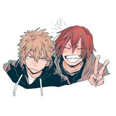 """Boku no Hero Academia    Katsuki Bakugou, Kirishima Eijirou, """"KiriBaku"""" #mha"""