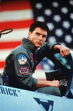 Tom Cruise in A Few Good Men. Great movie!! Watch out for bad language, though.