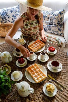 The Incredible Waffle Tea at Hotel L'Auberge in Punta del Este // Via Stacie Flinner