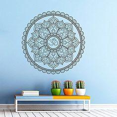 Wall Decals Mandala Ornament Indian Geometric Moroccan Pattern Yoga Namaste Flower Om Bedroom Vinyl Sticker Wall Decor Murals Wall Decal: Amazon.co.uk: Kitchen & Home
