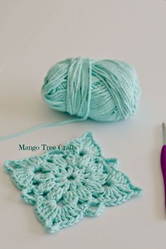 Free Crochet Motif photo tutorial from Mango Tree Crafts