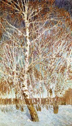 February Day 1901, Igor Grabar. Post Impressionism