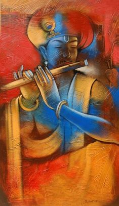 Yellow acrylic Painting by Balaji Ubale on Canvas, Religious based on theme Balaji Ubale. Pichwai Paintings, Indian Art Paintings, Radha Krishna Wallpaper, Krishna Radha, Painting Wallpaper, Fabric Painting, Painting Abstract, Hd Wallpaper, Wallpapers