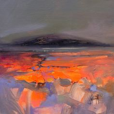 Scott Naismith Abstract Painting - Submerged Study I Brightly Coloured Semi-Abstract Landscape 2018 Abstract Landscape Painting, Acrylic Painting Canvas, Landscape Art, Landscape Paintings, Abstract Art, Art Paintings, Landscape Tattoo, Abstract Paintings, Cool Landscapes