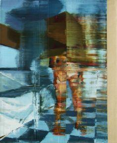 Nu com caixa sobre a cabeça. 50 cm x 61 cm. óleo sobre tela. Taigo Meireles. 2011