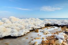 Salt formations along the Dead Sea in Israel. Learn about travel to Israel: http://www.atlastravelweb.com/Destinations/Israel-Tours.html