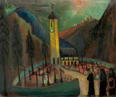 MARIANNE VON WEREFKIN . MARIANNE VON WEREFKIN All souls' day. Ca. 1930. Tempera on paper. 66 x 76 cm