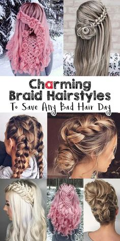 DIY HacksGorgeous Braids to Save Any Bad Hair Day - Looking Good Hairstyles - Hair Care Bad Hair Day, Braided Hairstyles, Cool Hairstyles, Hairstyle Hacks, Anime Hairstyles, Easy Hairstyle, Style Hairstyle, Black Hairstyles, Medium Hair Styles