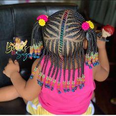 Mixed Baby Hairstyles, Little Girl Braid Hairstyles, Black Kids Hairstyles, Natural Hairstyles For Kids, Kids Braided Hairstyles, Toddler Hairstyles, Little Girl Braid Styles, Kid Braid Styles, Little Girl Braids