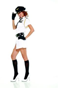 Buy Air Pilot fancy dress costume at Flirtywomen for only EUR Girl Costumes, Halloween Costumes, Halloween Ideas, Usa Code, Hollywood Usa, Girls In Love, Black Tie, Mini Skirts
