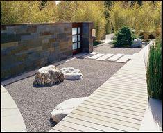 modern japanese dry garden