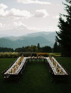 Oregon Wedding with a U-shaped table