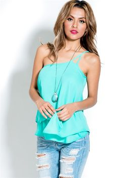 Lilly Top in Greek Turquoise | Awesome Selection of Chic Fashion Jewelry | Emma Stine Limited