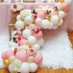 Explore our creative party ideas for birthdays, holidays, and any occasions. Find inspiration for your celebrations and let our party plans help you. Balloon Flowers, Balloon Garland, Shower Party, Baby Shower Parties, Bridal Shower, Birthday Decorations, Baby Shower Decorations, Floral Decorations, Wedding Decorations