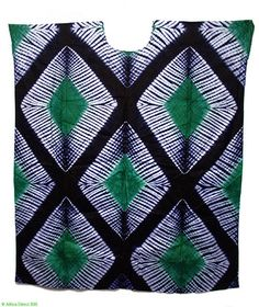 Yoruba Dress/Top  in Tie-Dyed Cotton Cloth West African Clothing