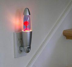 Lava Lamp Night Light   Apartment Therapy