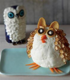 Cheese ball owls :)