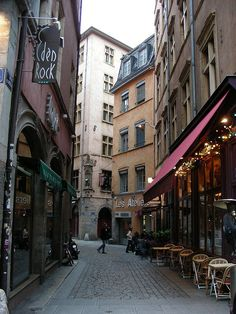 Lyon - Rue Merciere - my favourite street with my favourite pub in my favourite city