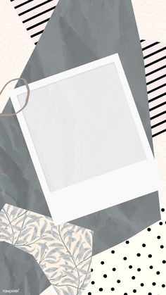 paper patterns Blank picture frame on scrapped papers pattern mobile phone wallpaper vector, iphone wallpaper Polaroid Picture Frame, Polaroid Pictures, Picture Frames, Photo Collage Template, Picture Templates, Instagram Frame Template, Polaroid Template, Instagram Background, Framed Wallpaper