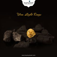 Don't wait for it. Select from our illuminating range of Ultra Light Rings. Mens Gold Jewelry, Gold Rings Jewelry, Nose Jewelry, Diy Jewellery, Gold Earrings, Gold Necklace, Enamel Rings, Gold Finger Rings, Gold Ring Designs