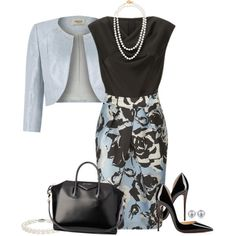 Untitled #87 by dm111 on Polyvore featuring moda, St. John, Precis Petite, Christian Louboutin, Givenchy, Henri Bendel, Blue Nile and Carolee