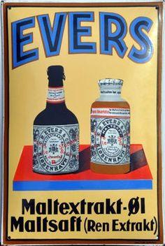 Hjem Book Labels, Beer Poster, Retro Advertising, General Store, Metal Signs, Drink Bottles, Drink Sleeves, Signage, Alcohol