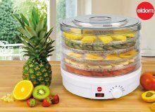 Aszalt gyümölcsök, fűszernövények házi készítéséhez - 5 szintes Eldom gyümölcs- és zöldségszárító