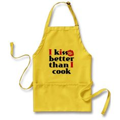 Kiss Better Than Cook BLK Apron