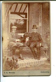 CC  ROUGH COLLIE DOG muzzled! & GODALMING  SURREY Owners 1880s Cabinet  Card