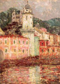 The Athenaeum - L'Eglise Dolceaqua (Henri Le Sidaner - )