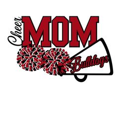 Excited to share this item from my #etsy shop: Cheer Mom Bulldogs SVG