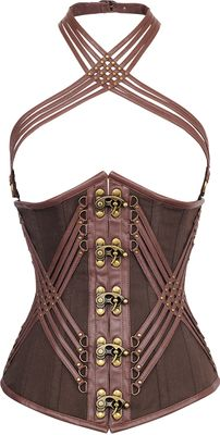 Check out this item on The Violet Vixen KingsRoad Brown Corset #thevioletvixen