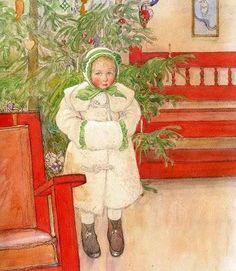 Magie de Noël, Carl Larsson