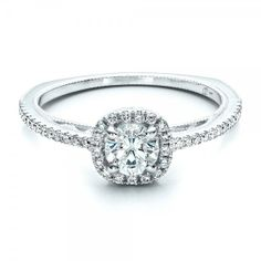 Total vintage flair with this custom antique siamond halo engagement ring. Customize it the way you like here: https://www.josephjewelry.com/custom-engagement-rings/1448.php