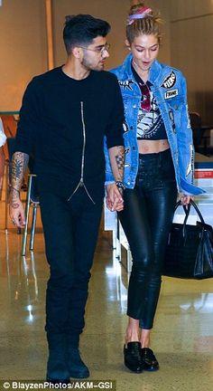 Gigi Hadid looks rocker chic as she steps out with Zayn Malik